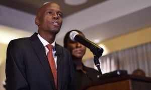 Official preliminary results show presidential PHTK candidate businessman Jovenel Moise won the Haitian vote outright with 55.7 percent of the vote (AFP Photo/HECTOR RETAMAL)